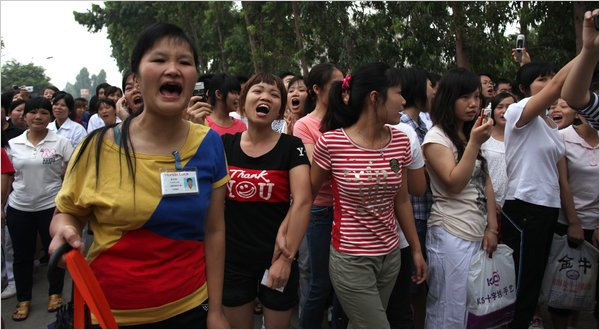 Honda factory protesters